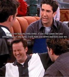 Oh my god, Chandler's reaction! So hilarious!