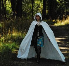 Hooded Long Basic Cape by FaireMiscellany on Etsy