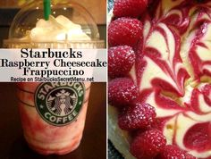 Starbucks Secret Menu: Raspberry Cheesecake Frappuccino Here's dessert in a cup! One of our most popular secret Starbucks recipes and one of the easiest to order! Starbucks Frappuccino, Starbucks Coffee, Starbucks Secret Menu Drinks, Starbucks Flavors, Secret Menu Items, Raspberry Cheesecake, Raspberry Syrup, Cocktails, Dessert Cups