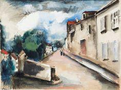 Maurice de Vlaminck (France 1876-1958) Rueil La Gadelière (1958) watercolor, gouache, and ink on paper 45 5 x 60.5 cm