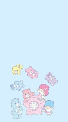 Princess — Little Twin Stars x Care Bears lockscreens. Soft Wallpaper, Iphone Wallpaper Vsco, Bear Wallpaper, Iphone Background Wallpaper, Hello Kitty Wallpaper, Aesthetic Iphone Wallpaper, Girl Wallpaper, Aesthetic Wallpapers, Care Bears
