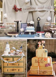 Sweets table for a Travel Themed Wedding