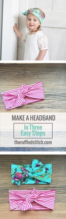 Simple Headband DIY // A DIY headband in three easy steps // DIY toddler…