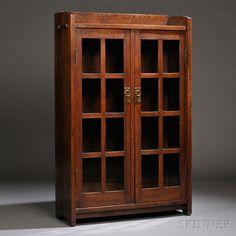 Gustav Stickley Bookcase | Sale Number 2661B, Lot Number 210 | Skinner Auctioneers