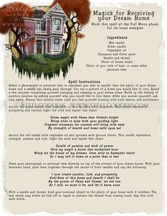 A Spell to Receive your Dream Home  Book of by steelgoddess, $14.95