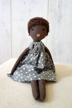 Cloth doll handmade one of a kind/ Anette by lespetitesmainsS, $80.00