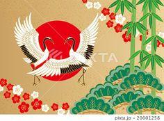 鶴と松竹梅