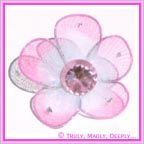 View Flower Pink Organza with Diamante - Bag of 10