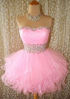 mini sweetheart natural waist prom dress