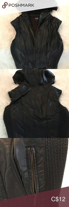 Shop Women's Black size XS Jackets & Coats at a discounted price at Poshmark. Faux Leather Jackets, Jackets For Women, Product Description, Coats, Best Deals, Closet, Things To Sell, Black, Style