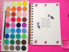 God Bless Your ART: Day 1: Starting your Christian Art Journal: watercolors, markers, and stamps