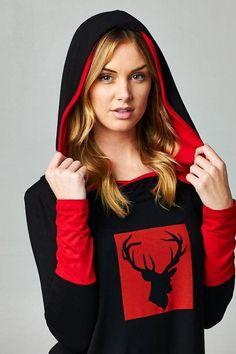 Long hoodie tunic