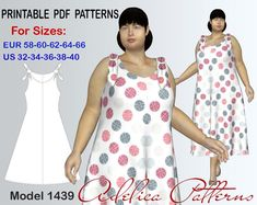 dd40cc021d8 Plus size Summer dress pattern for sizes 32-40