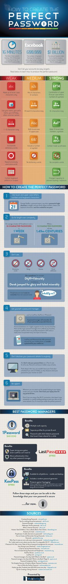 How to Create a Super Strong Password (Infographic) wedding parties, strong password, super strong, tech gadgets