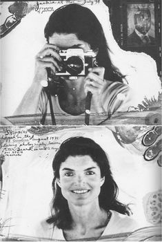 Never ever tire of seeing Peter Beard's work. Scrap book style, photo collages to which nothing else can compare. Jackie O here, in as seen by Peter Beard