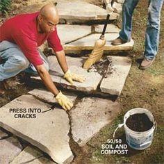 DIY stone steps - Google Search