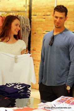 JP Arencibia and Marta Tryshak shopping at French Connection, Toronto