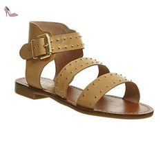 Unbekannt , Sandales pour femme - Ivoire - Nude Leather, - Chaussures unbekannt (*Partner-Link)