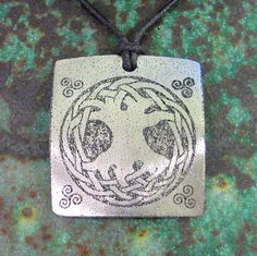 Celtic Tree of Life etched pendant - etsy