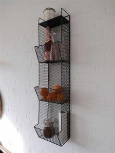 Kitchen Storage Metal Wire Wall Rack Shelving Display Shelf Industrial Black | eBay $92 + $60 ship