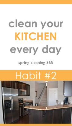Habit 2: Clean Your Kitchen Every Day #springcleaning #kitchen