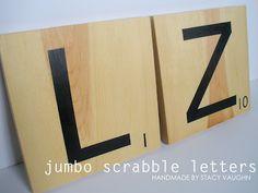 Scrabble Jumbo letters