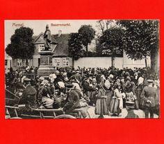 AK um 1910    MEMEL   der SEHR BELEBTE BAUERNMARKT / Ostpreussen Postkarte Markt