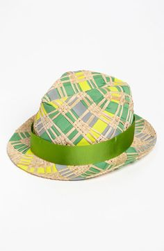 Jonathan Adler Ribbon & Straw Handwoven Fedora available at #Nordstrom