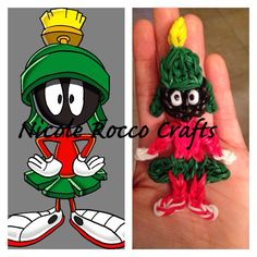 MARVIN the MARTIANS. Designed and loomed by Nicole Rocco for Nicole Rocco Crafts. (Rainbow Loom FB page)