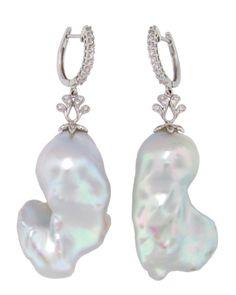 Large Baroque freshwater Pearl Earrings