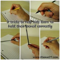 3 tricks to teach kids to hold their pencil correctly