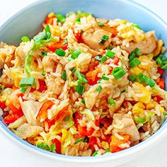 Asian Recipes, Ethnic Recipes, Wok, Fried Rice, Fries, Chinese, Lunch, Curry, Chicken