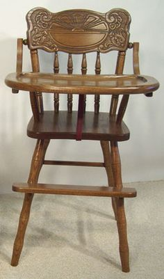 Oak - Sunburst High Chair - Amish Furniture