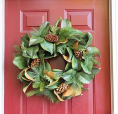 Christmas wreath - everlasting magnolia