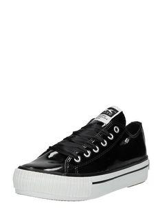 30aabd12bed British Knights Master Platform BK sneakers zwart lak met plateauzool