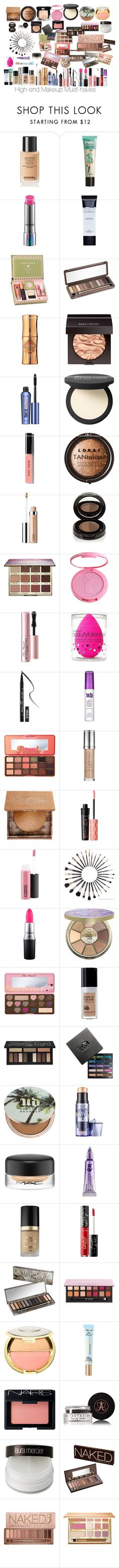 High End Makeup Must-haves by jerzeypeach ❤ liked on Polyvore featuring beauty, Chanel, Benefit, MAC Cosmetics, Smashbox, Urban Decay, Hoola, Laura Mercier, It Cosmetics and Bobbi Brown Cosmetics