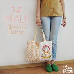 Nuevos bolsos gatunos en www.ohmimi.com.ar!