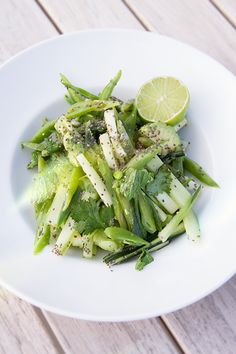 Green Bean, Cucumber and Mint Salad with Avo and Chia