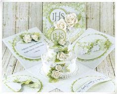 Scrap Art by Lady E: Holy Communion Cake / Tort Komunijny