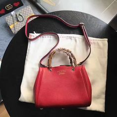 Gucci woman small tote bag bamboo handle