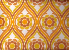 Vintage Wallpapers - The Largest Retro Wallpaper Webshop 70's Wallpaper, Wallpaper For Sale, Pattern Wallpaper, Geometric Wallpaper, Wallpaper Backgrounds, Vintage Patterns, Vintage Prints, Vintage 70s, Ford Mustang Wallpaper