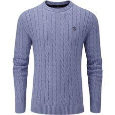 Henri Lloyd Kramer Regular Crew Neck Knit Jumper (725 ZAR) ❤ liked on Polyvore featuring men's fashion, men's clothing, men's sweaters, sale men knitwear, mens crew neck sweaters, mens cable knit sweater, mens knitwear, mens cable sweater and men's crewneck sweaters