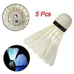 Trustful 5pcs Game Sport Training White Duck Feather Shuttlecocks Birdies Badminton Mc Bälle