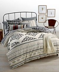 Whim by Martha Stewart Collection Nomad Reversible Bedding Ensembles, Created for Macy's
