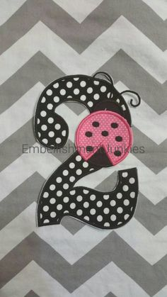 Large black and white polka dot number two by EmbellishmentJunkies