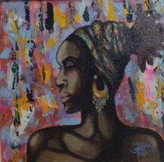 Zambia  Claudio Rosa acrílico sobre canvas.
