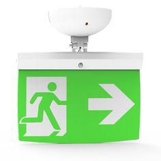 Addressable LED Emergency Lighting Exit Sign (20 m) EL-20 - For ceilings  https://www.justleds.co.za