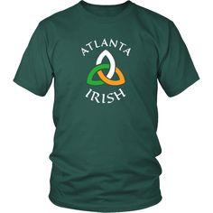 "Saint Patrick's Day - "" Atlanta Irish Parade "" - custom made funny t-shirts-T-shirt-Teelime | shirts-hoodies-mugs"