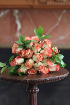 rose bunch on table