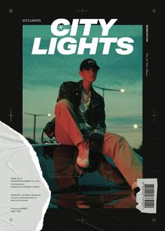 """Watch: EXO's Baekhyun Introduces Solo Debut Concept With Captivating """"City Lights"""" Film And Teaser Images Graphic Design Layouts, Graphic Design Posters, Graphic Design Inspiration, Layout Design, Baekhyun, Book Design, Cover Design, Kpop Posters, Gfx Design"""